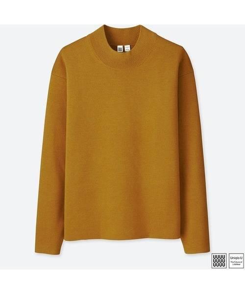 ユニクロ  ミラノリブモックネックセーター