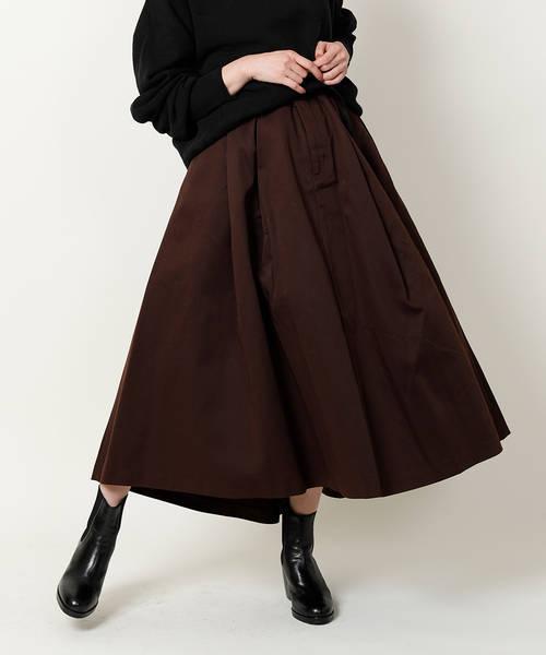 こげ茶ボリュームスカート
