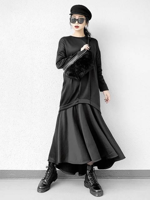 UN3D.  レイヤードスウェットワンピースモード系ファッション