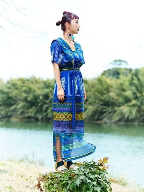UN3D.  エスニックワンピースレディースファッション