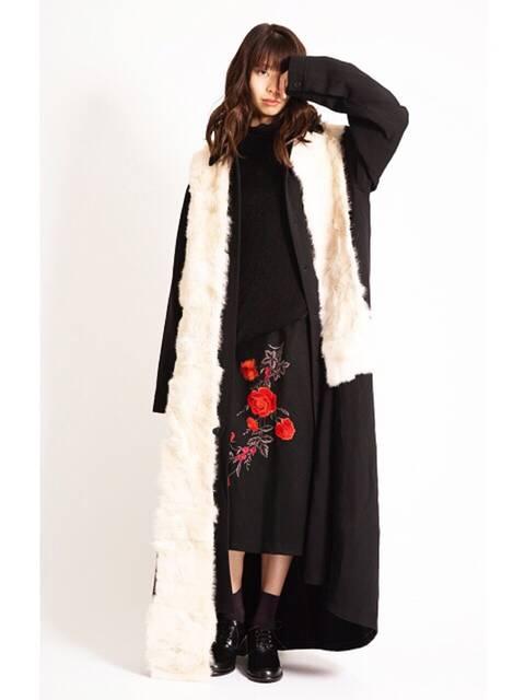 ISSEY MIYAKE ファーストールレディースファッションコーデ