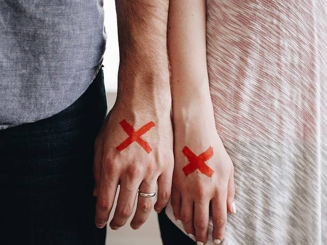 Hands Couple Red X · Free photo on Pixabay (91812)