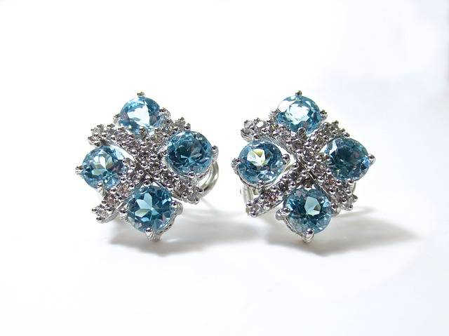 Earrings Diamonds Blue · Free photo on Pixabay (125085)