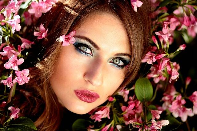 Girl Flowers Pink Blue · Free photo on Pixabay (134091)