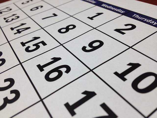 Calendar Date Time · Free photo on Pixabay (154441)