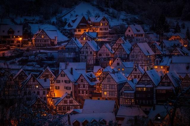 Architecture Fachwerkhäuser Night · Free photo on Pixabay (157871)