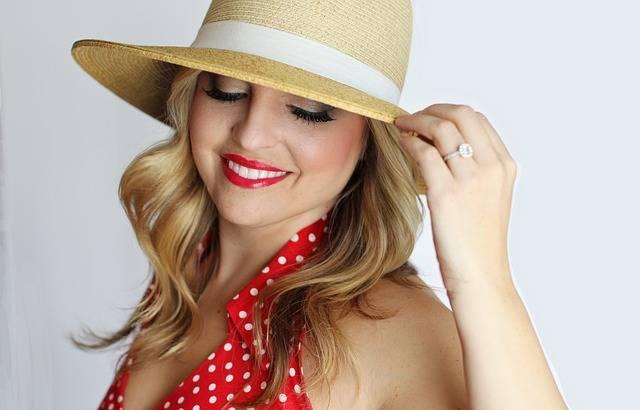 Pretty Girl Polka Dot Straw Hat · Free photo on Pixabay (159406)