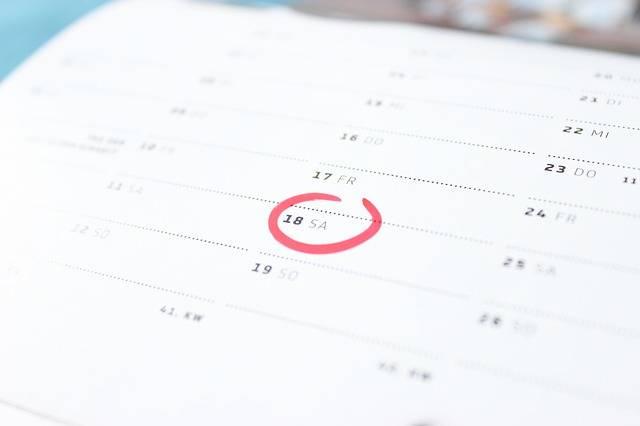 Time Calendar Saturday · Free photo on Pixabay (169830)