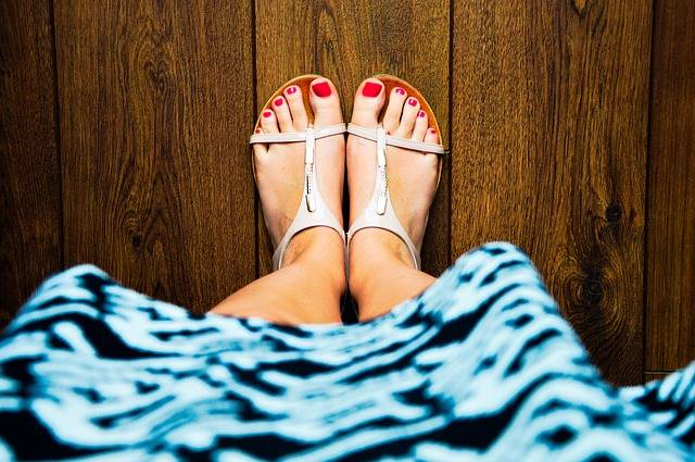 Sandals Feet Red Nails - Free photo on Pixabay (183440)