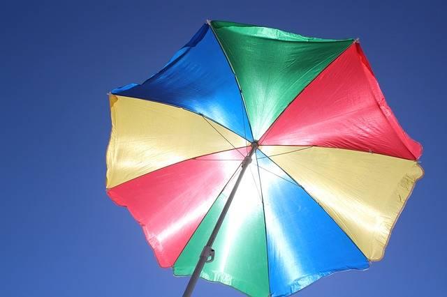 Parasol Sun Protection Blue Sky - Free photo on Pixabay (257070)