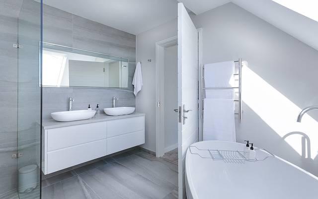 Modern Minimalist Bathroom Bath - Free photo on Pixabay (258071)