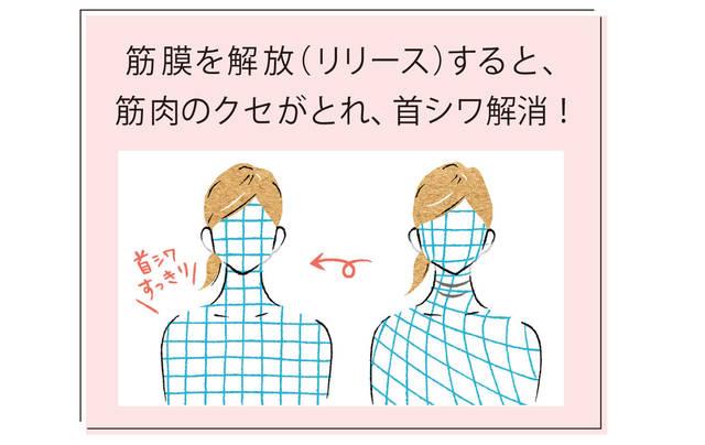 筋膜を解放(リリース)して筋肉のクセを取り、シワも解消!