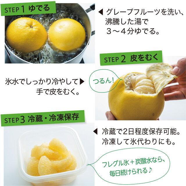 グレープフルーツ剥き方