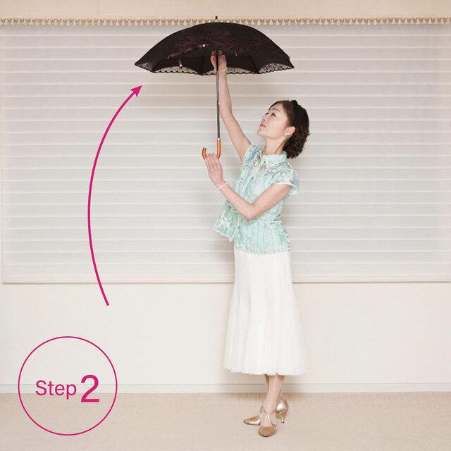 傘の開き方2