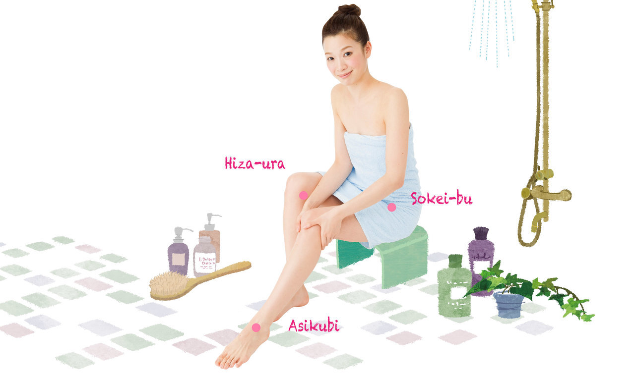 お風呂ついでに、下半身のむくみ改善「3点リンパさすり」。免疫力アップにも!