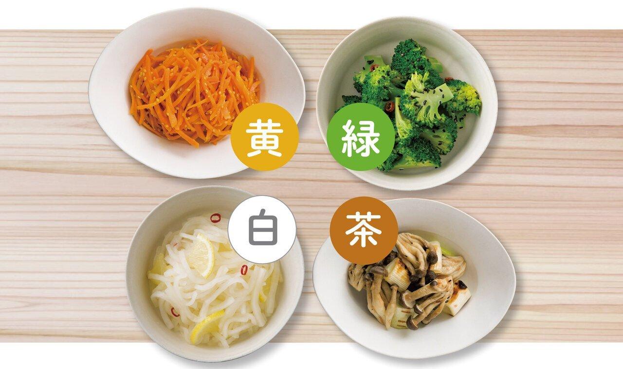 食物繊維・栄養たっぷり。「4色作りおきナムル」で野菜不足解消|からだにいいことWeb