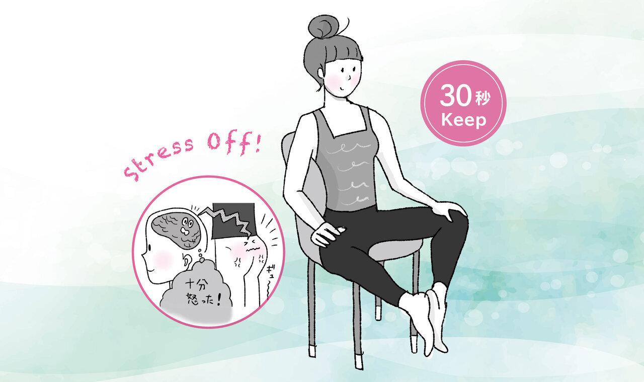 イライラ、落ち込み感情の爆発を抑える「30秒 お尻筋・首筋ヨガ」|からだにいいことWeb