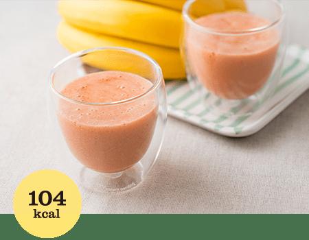 バナナとトマトジュースのスムージー