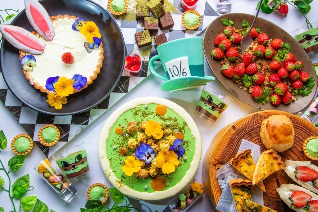 【東京池袋】愛麗絲夢遊仙境主題餐廳 用抹茶草莓極品甜點與鹹食來場下午茶