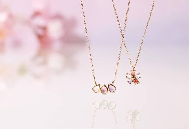 春天魅力新首飾「urara」系列開始發售 玫瑰水晶等綻放櫻色光彩