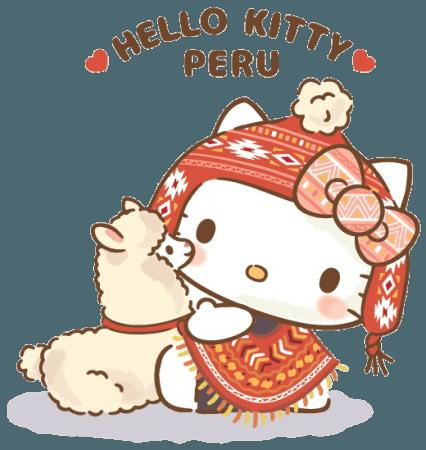 穿著秘魯傳統服飾的Kitty來「關空旅博2019」玩囉!快來和Kitty見面吧~