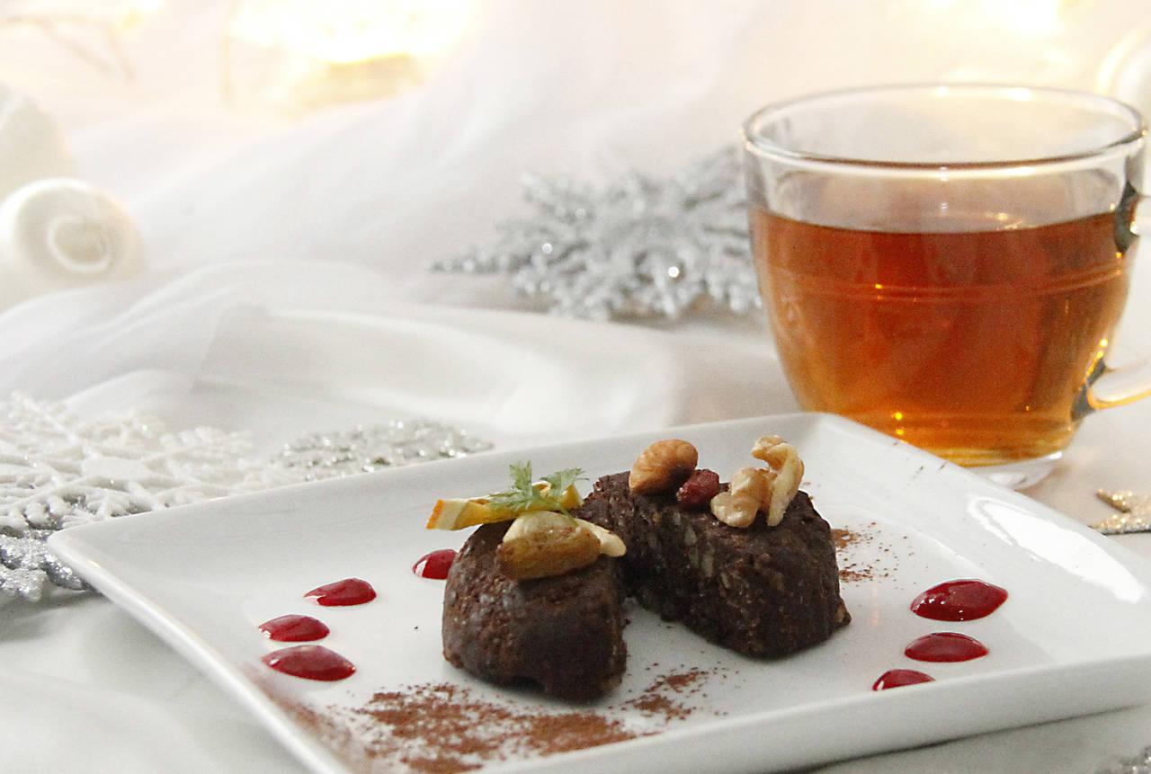 ❄ 耶誕限定甜點套餐❄ 生布朗尼&諾麗葉茶