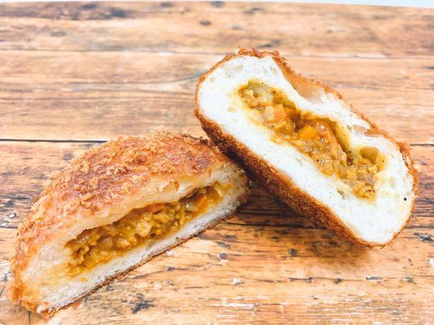 蔬菜與大豆素肉醬咖哩麵包