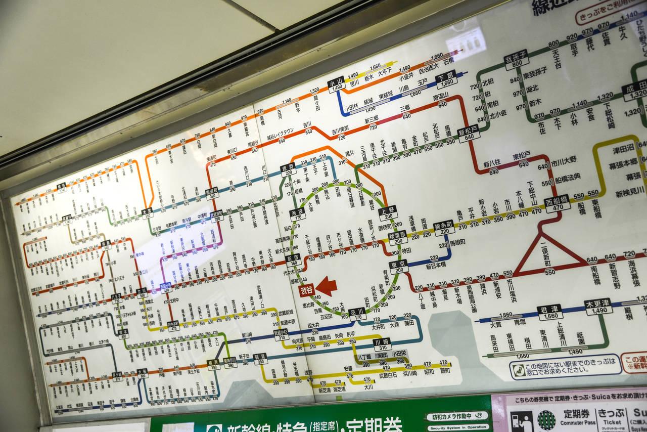 JR東日本鐵道路線圖