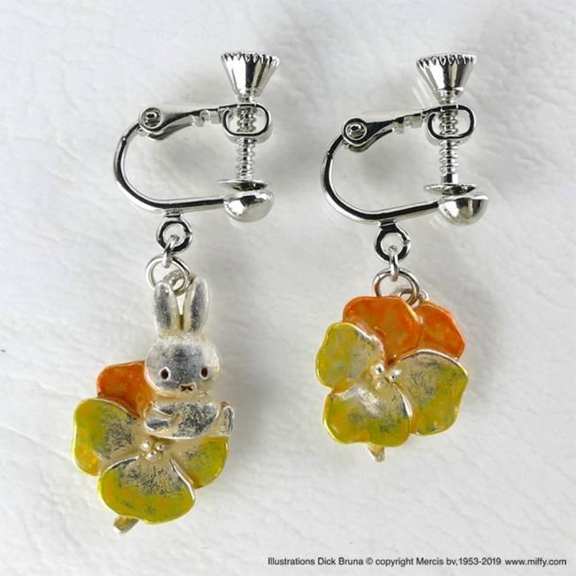 商品名:三色堇 耳針式耳環 / 耳夾式耳環