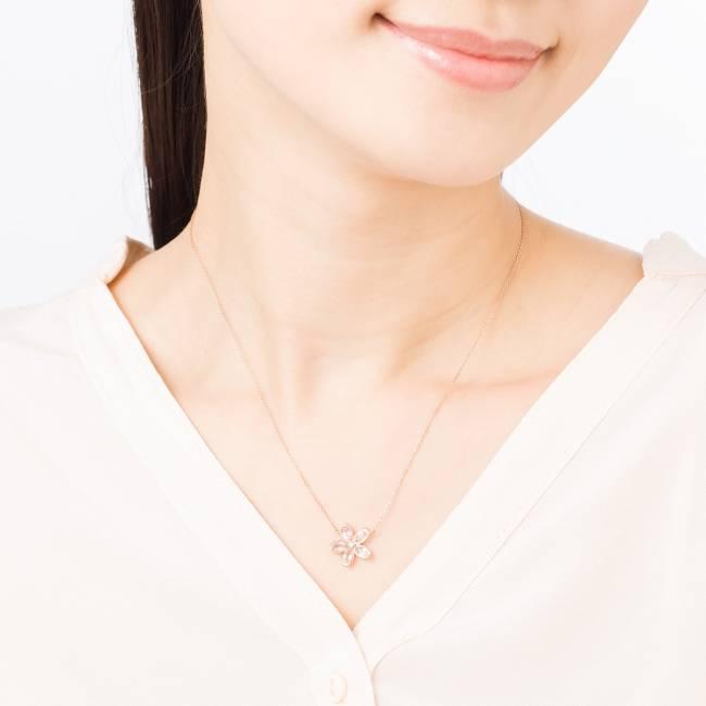 K10PG/Rose Quartz Necklace ¥34,000+Tax