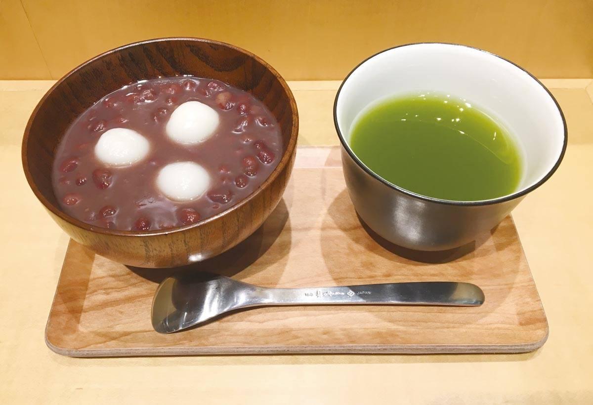 自家製的紅豆 湯和白玉湯圓,甜而不膩的口感廣受好評。