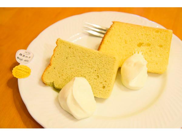△西京味噌(後)和番薯(前)口味的戚風蛋糕