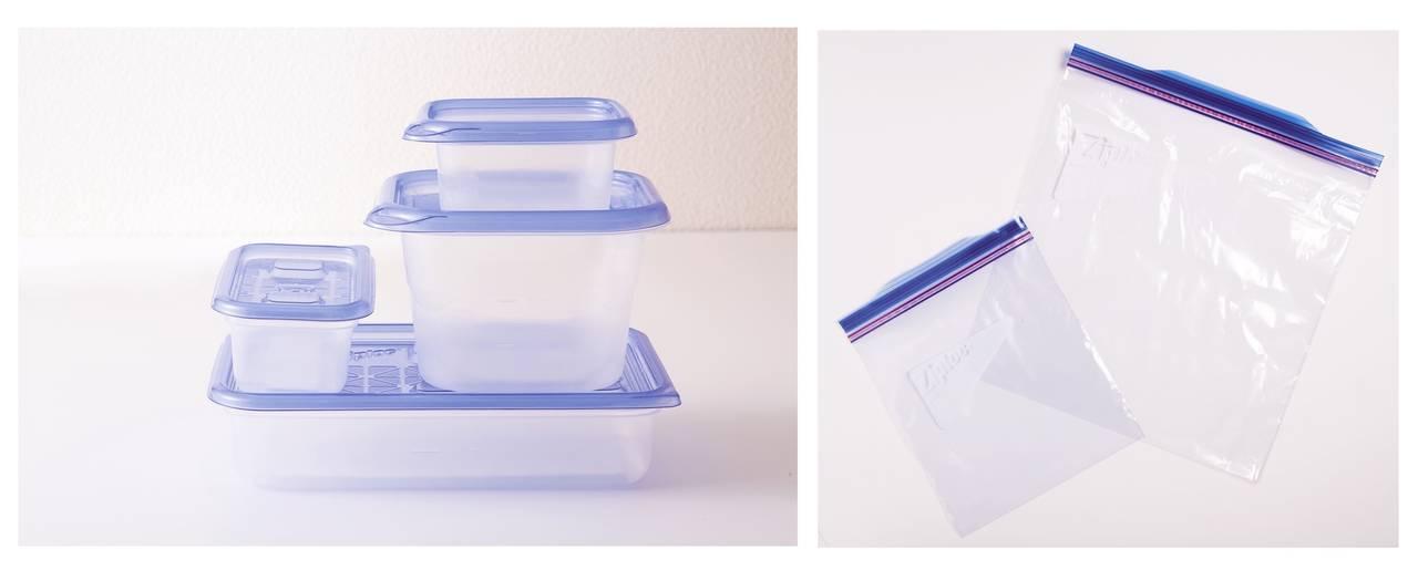 ・準備可以密封的保鮮盒