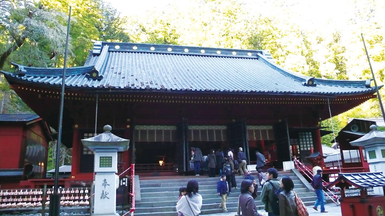 二荒山神社拜殿。