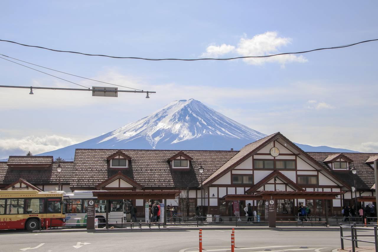 清晰可見的富士山山峰