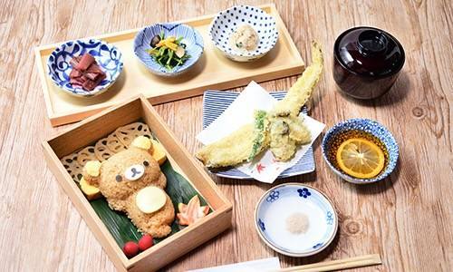 拉拉熊鰻魚和牡蠣天婦羅和風套餐 1,580日圓