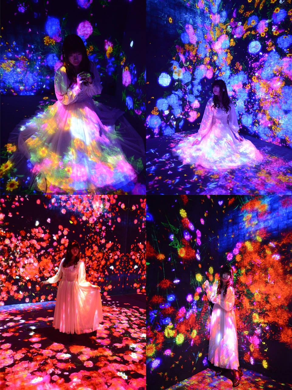 ▲花與人的森林:迷失、沉浸與重生/ Forest of Flowers and People: Lost, Immersed and Reborn / teamLab