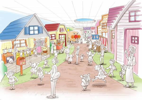 「大家的小鎮」示意圖 ©柳瀨嵩/FROEBEL館・TMS・NTV