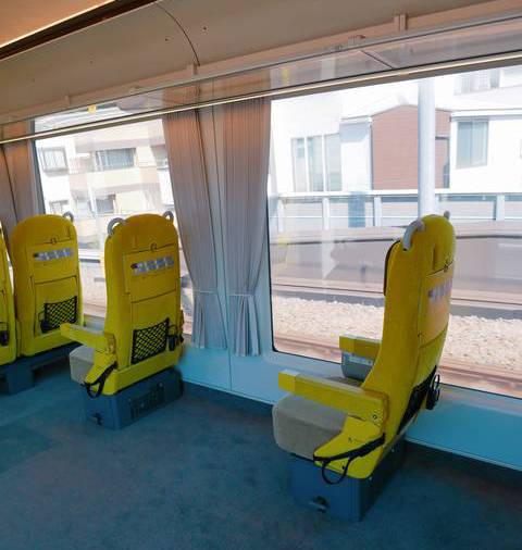 ▲1號車的輪椅以及嬰兒車的專用車位(partner zone)