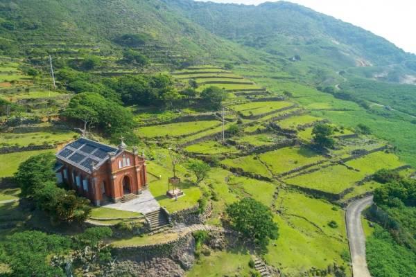 五島列島(長崎縣)野崎島的舊野首教會。