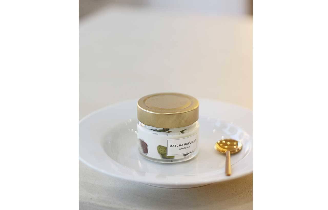 3.「玻璃罐抹茶起司」(630 日圓)亦有不販售的日子
