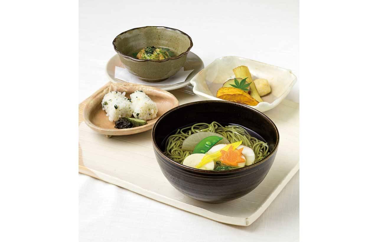 2. 搭配茶蕎麥麵的「朝日簡餐」(1,890日圓,含稅)