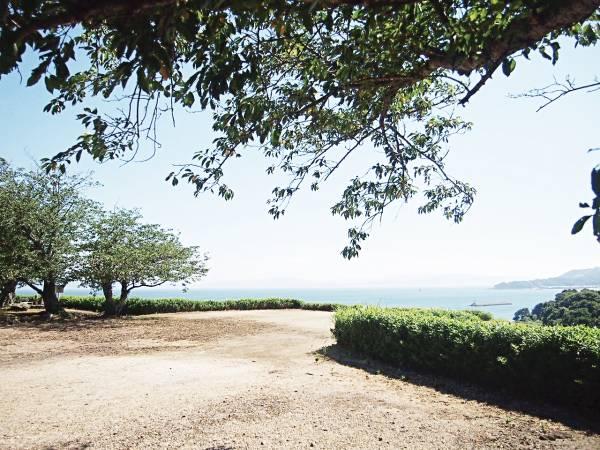 島原半島突出尖端處的原城遺跡。