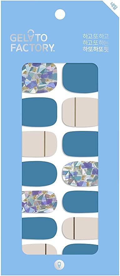 GELATO FACTORY「NailFit低彩度系列 藍色美甲貼」