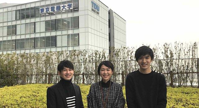 左から、河西さん、松井助教、西垣さん。