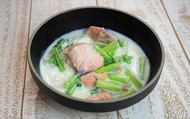 鮭とカブのクリーム煮