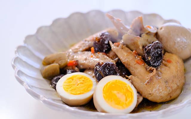鶏ごぼうのプルーン煮