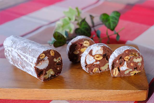 節分豆のチョコレートサラミ