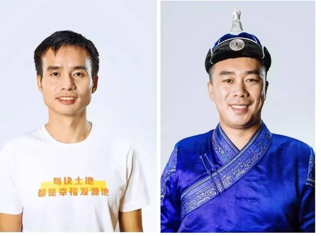 """蓋宝村の村支部書記""""呉玉聖""""(左)と内モンゴルの""""太平..."""