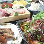 鮮魚と鍋が一度に楽しめる宴会コースが大人気!